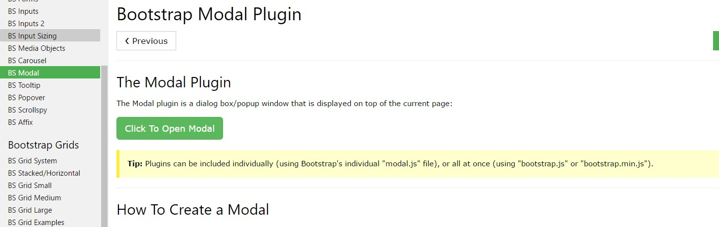 Bootstrap modal  article