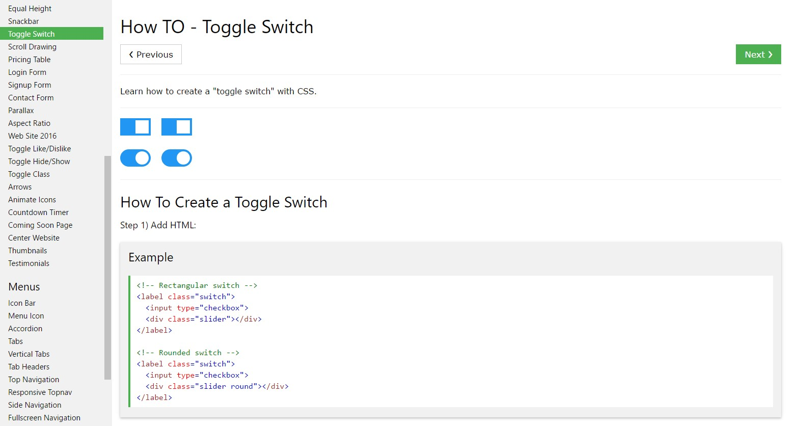 How you can  make Toggle Switch
