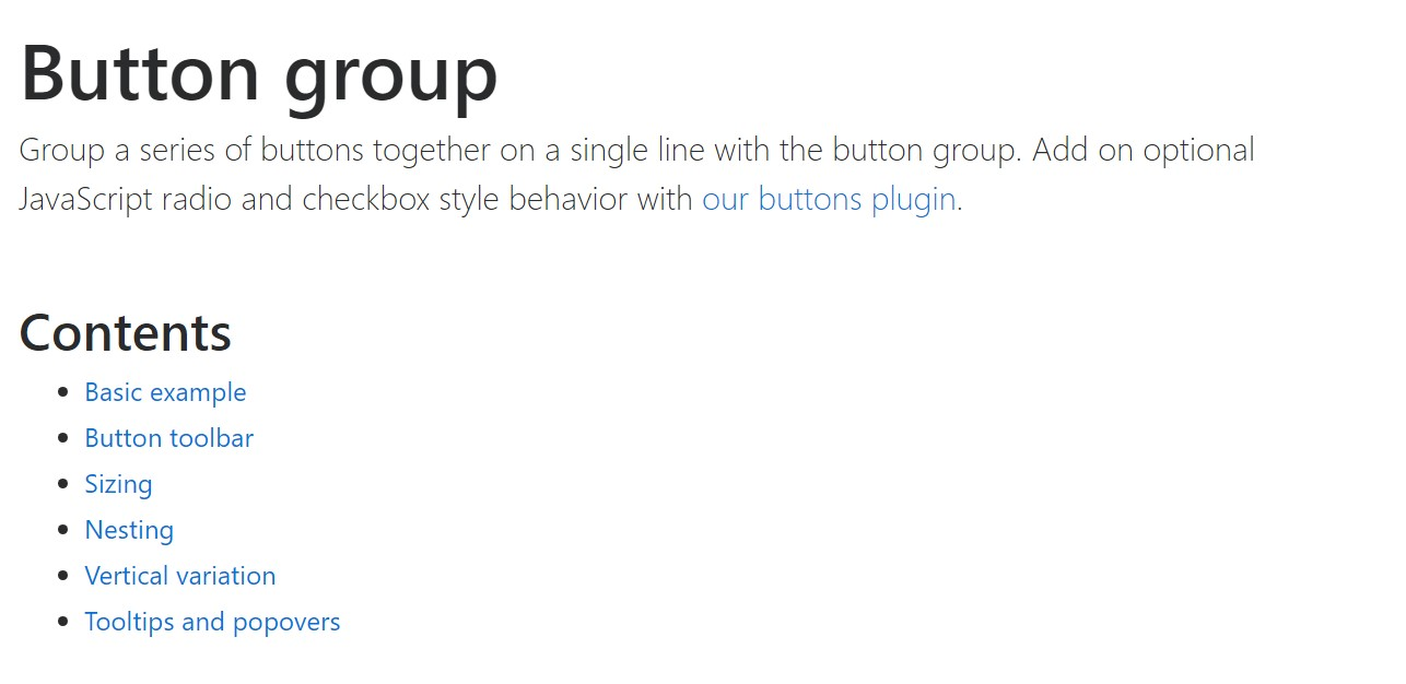 Bootstrap button group  main  documents
