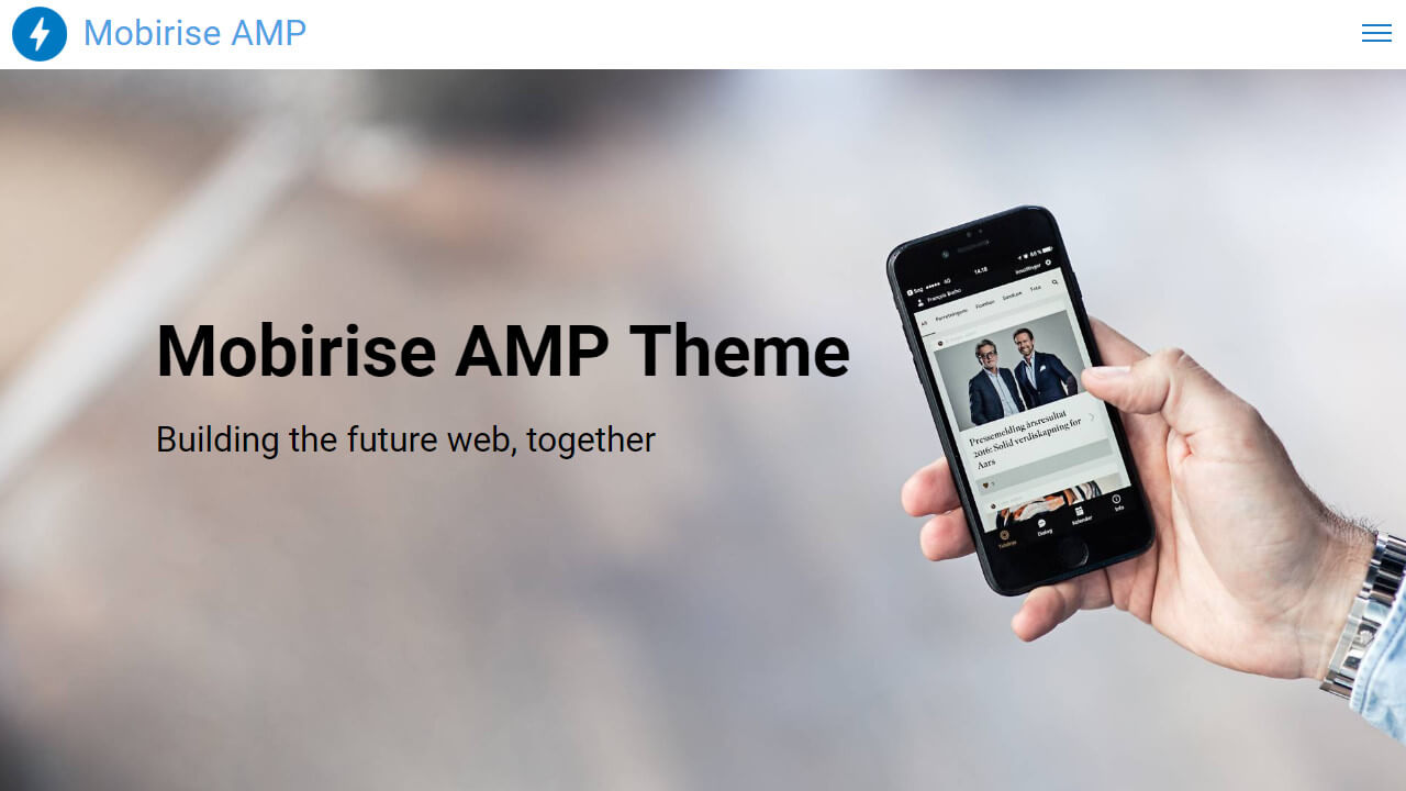 Responsive AMP Headers Template
