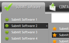 Menu Vertical Simple Compatible Ie Menubar Browser Links
