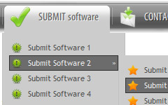 freeware html menus with submenus maker Menu Deroulante Horizontal Ajax