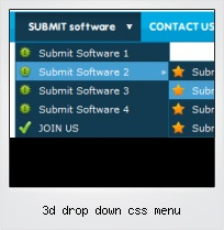 3d Drop Down Css Menu