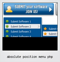 Absolute Position Menu Php