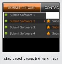 Ajax Based Cascading Menu Java