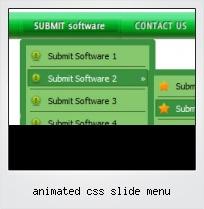 Animated Css Slide Menu