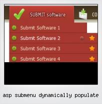 Asp Submenu Dynamically Populate