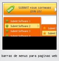 Barras De Menus Para Paginas Web