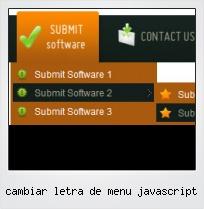 Cambiar Letra De Menu Javascript