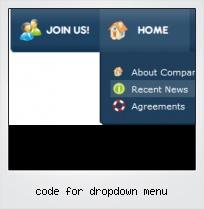 Code For Dropdown Menu