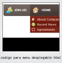 Codigo Para Menu Desplegable Html