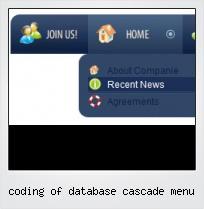 Coding Of Database Cascade Menu