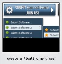 Create A Floating Menu Css