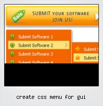 Create Css Menu For Gui