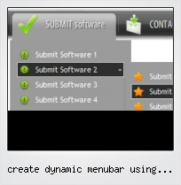 Create Dynamic Menubar Using Javascript