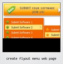 Create Flyout Menu Web Page