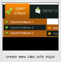 Create Menu Tabs With Style