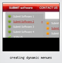 Creating Dynamic Menues