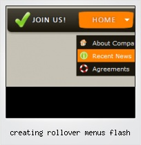 Creating Rollover Menus Flash