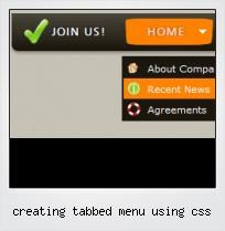 Creating Tabbed Menu Using Css