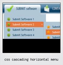 Css Cascading Horizontal Menu