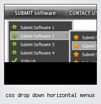 Css Drop Down Horizontal Menus
