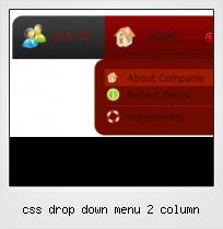 Css Drop Down Menu 2 Column