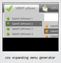 Css Expanding Menu Generator