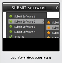 Css Form Dropdown Menu