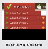 Css Horizontal Glass Menus