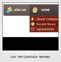 Css Horizontale Menues