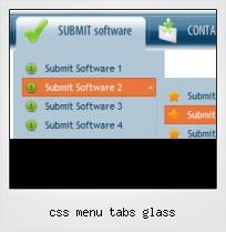 Css Menu Tabs Glass