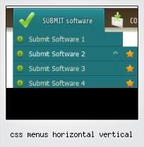 Css Menus Horizontal Vertical