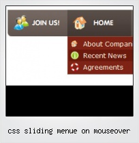 Css Sliding Menue On Mouseover