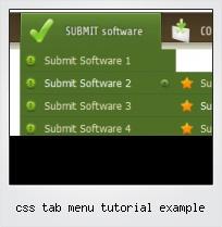 Css Tab Menu Tutorial Example