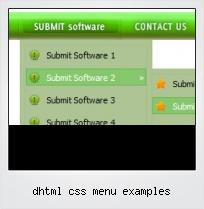 Dhtml Css Menu Examples
