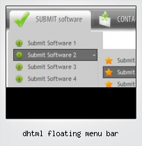 Dhtml Floating Menu Bar