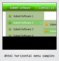 Dhtml Horizontal Menu Samples