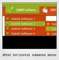 Dhtml Horizontal Submenus Menus