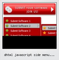 Dhtml Javascript Side Menu Templates