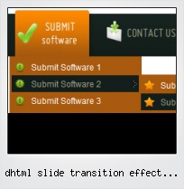 Dhtml Slide Transition Effect Down Menu