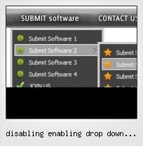 Disabling Enabling Drop Down Menus Html