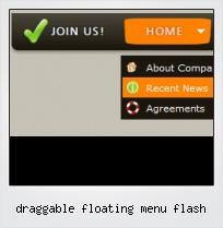 Draggable Floating Menu Flash