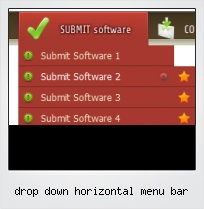 Drop Down Horizontal Menu Bar