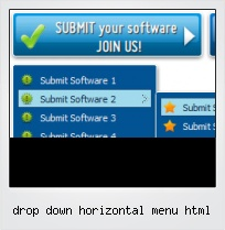 Drop Down Horizontal Menu Html