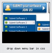 Drop Down Menu Bar In Css