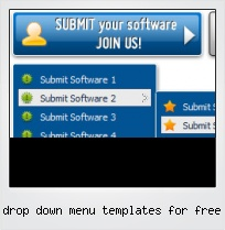 Drop Down Menu Templates For Free
