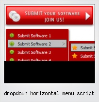 Dropdown Horizontal Menu Script