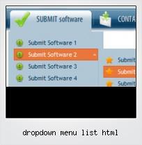 Dropdown Menu List Html