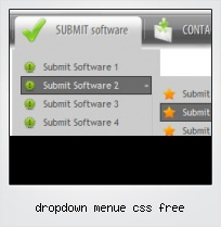 Dropdown Menue Css Free